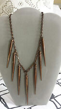 BURBERRY BRONZE NICKEL SPIKE NECKLACE with dust bag