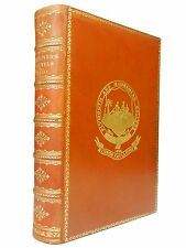 Gulliver's Travels by Jonathan Swift, Fine Leather binding, ca 1900, Illustrated