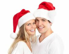 Christmas Cap Thick Ultra Soft Plush Santa Claus Holiday Fancy Dress Hat Unisex