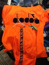 DIADORA CLOTHING T SHIRT /TROUSERS SMALL MENS 34/36 INCH AT £18 VERY BRIGHT