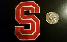 "Stanford Cardinals  Indians Vintage embroidered iron on patch Old Stock 3"" x 2"