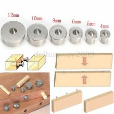 6X Dowel Joint Alignment Tool Centre Point Pin Set for 4 5 6 8 10 12mm Hole Box