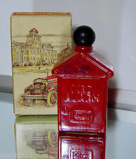 AVON 1974 FIRE ALARM BOX Aftershave Cologne Red Perfume BOTTLE House Decanter