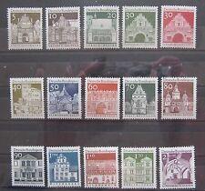 Bund Briefmarken 1966 Freimarken Mi.489-503 Bauwerke komplett Postfrisch