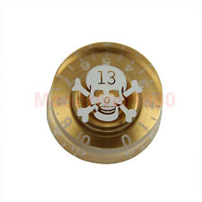 Skull Speed Control String Gold Knob Chord Electric Guitar Part Accessories New