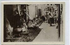 (Ga2842-100) Real Photo of TETOUAN, Vendedoras Moras, Morocco c1930 G-VG