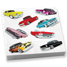 Classic Cars Vintage Car Party Beverage Napkins Car Show Party Napkins