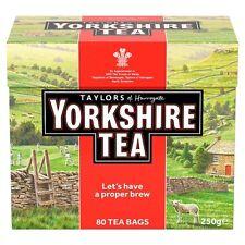 Taylors Yorkshire 80 TEABAGS 250g-venduti in tutto il mondo dal Regno Unito