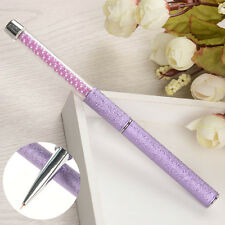 Purple Nail Art Liner Brush Painting Drawing Pen Bead Handle DIY Design Tool