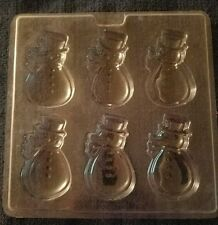 plastic chocolate candy mold snowman
