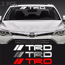 2 pcs. Toyota TRD windshield decal sticker Corolla Camry Supra Tacoma Tundra