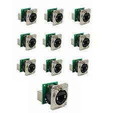 10 seetronic panel mount RJ45 ethernet cat5 jacks for recessed stage floor box