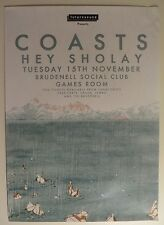 COASTS official GIG POSTER promo print a rush of blood paradise oceans stay