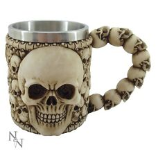 NEMESIS NOW AL50178 SMALL TANKARD OF SKULLS GOTHIC SKELETON FANTASY VESSEL SKULL