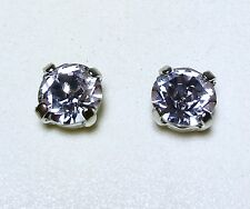 Crystal Stud Earrings Silver Or Gold Plate Fashion Purple Made With Swarovski