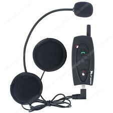 1×BT Motocicleta interphone bluetooth intercomunicador para casco sport headsets