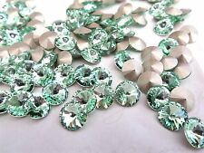 12 Chrysolite Foiled Swarovski Crystal Rivoli Stone 1122 39ss 8mm