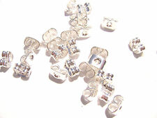 1208FN Earnut Nut Stud Stopper Butterfly Silver plated Brass, 5.5x4mm, 50 Qty