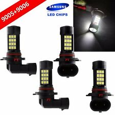 Combo Set 9006 + 9005 Samsung LED 42-SMD White Headlight Light Bulb Hi/Lo Beam