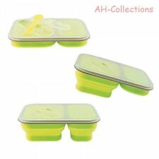 Gimex Camping Geschirr faltbare Silikon Lunch Box Brotdose Snackbox 2er-Set