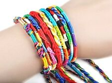 5 x Assorted Woven Rainbow Friendship Bracelet - Colourful Cord Braid Wristband