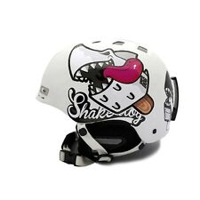 Decal Stickers For Helmet Motorcycle Biker Snowboard Hard Hat - Shark DOG 04
