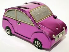 NEW LYDC Designer Women,s Beetle CAR Handbag Patent Ladies Purse PURPLE