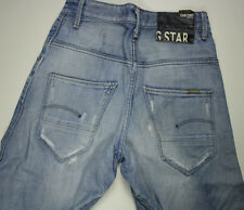 EUC - RRP $359- Mens or Boys G-Star Raw Distressed 'ARC PANT' Faded Indigo Jeans