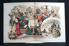 Ehrhardt Difference of Opinion 1892 RUSSIAN CZAR Feast or Famine FOOD ROAST PIG