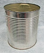 Unknown Old Silver Tin Empty Vintage 3 lb Coffee Can 6x7 Food Tin FREE S/H