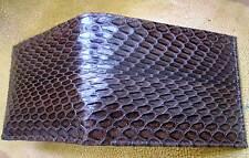 Genuine  Belly Python&Cobra Skin Mens Bifold Wallet Brown color Jame Bond v.70