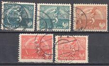 Poland 1921 - Sower and Rainbow  Mi. 158-160 - used