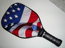 NEW AERODYNAMIC PICKLEBALL PADDLE USA FLAG WAVE PICKLEPADDLE T200 QUICK AT NET