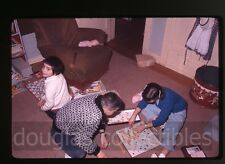 1961 35mm Photo slide Kids playing scrabble board game