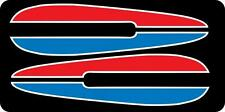1972 FL FLH Harley Davidson RED BLUE Tank decal with WHITE trim 72 71 FX FXE