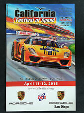 PORSCHE CLUB OF AMERICA CA FESTIVAL OF SPEED 918 OFFICIAL EVENT POSTER 2015 NEW