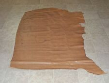 WVE6754) Side of Light Brown Reptile Print Cow Leather Hides Skin