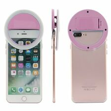 Pink Selfie LED Ring Fill Light Camera Photography For iPhone Android Phone