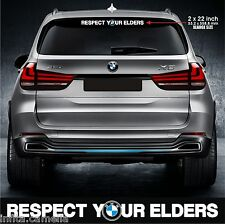 EB112 xlarge respect your elders sticker decal motorsports germany euro low dtm