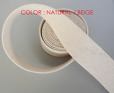 "50mm 2"" Natural /Beige 100% Cotton CANVAS webbing strap tape Upholstery @ 1Yards"