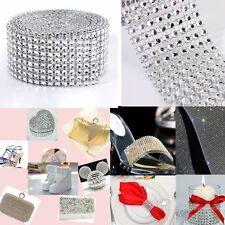 "5 Yards Wedding Diamond Mesh Wrap Sparkle Rhinestone Crystal Ribbon Trim 1.57"""