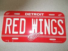 "DETROIT ""RED WINGS"" LICENSE PLATE"