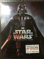 Star Wars: The Complete Saga (Blu-ray Disc, 2011, 9-Disc Set, Boxed Set)