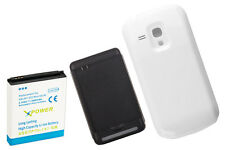 3900Mah Extended Battery + Cover + Charger for Samsung Galaxy S3 Mini i8190 Wte