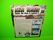 Tsunami AIR RAID 2002 Original NOS Video Arcade Game Promo Sales Flyer TSUMO
