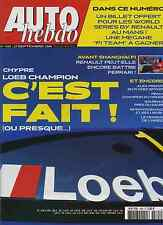 AUTO HEBDO n°1565 du 27 Septembre 2006 WRC Chypre Mondial de l'auto