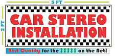 CAR STEREO INSTALLATION Banner Sign NEW Larger Size Best Price for The $$$$$