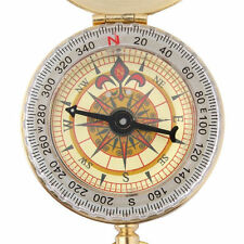 Outdoor Tasche Kompass Messing Camping Wandern Navigation Ring Schlüsselring NEU
