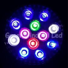 E27 Full Spectrum Fixture PAR38 12 LED Aquarium Fish Tank Light Fresh Saltwater