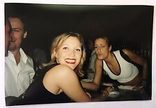Vintage 90s PHOTO Women & Friends Smoking & Drinking Leaning In For Kiss